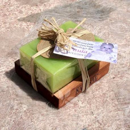 Regalos de empresa: jabón natural con jabonera
