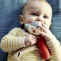 Juguete ecológico para bebés- Sonajero de algodón orgánico