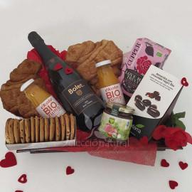 Desayuno a domicilio romántico