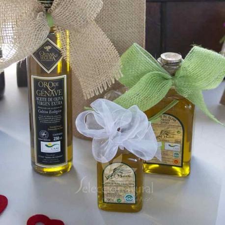 Detalle de bautizo: aceite de oliva virgen ecológico