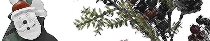 Cestas y detalles de Navidad ecológicos